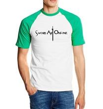 for fans Sword Art Online SAO t shirt 2018 new summer 100% cotton high quality raglan men t-shirt S.A.O short sleeve shirt S-2XL