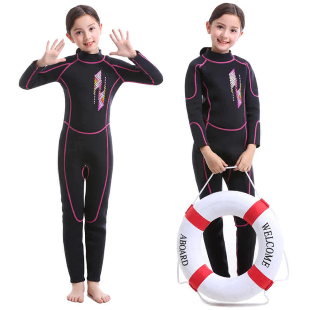 Неопреновые Детские гидрокостюмы с длинными рукавами, костюмы для дайвинга, сёрфинга, одежда для плавания, одежда для подводного плавания для мальчиков и девочек