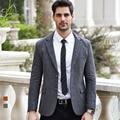 Si Qilong 2016 зима новый шерстяной костюм мужской деловой случай пиджаки Ретро джентльмен стиль Серый Классический Твид свадебный пиджак куртка