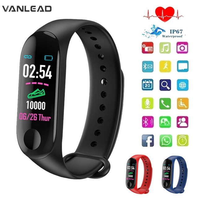 חכם שעון M3Plus עמיד למים חכם ספורט צמיד טלפון Bluetooth קצב לב צג כושר חכם צמיד עבור אנדרואיד IOS