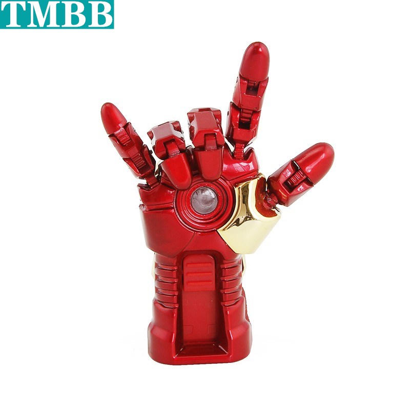 Creative New Ironman USB Flash Drive 128GB Pen Drive Pendrive Animated Iron Man Hand 4GB 8GB 16GB 32GB 64GB USB 2.0 Memory Stick