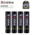 4 шт. 3 7 в 3400 мАч 18650 перезаряжаемая батарея защищена высокой разрядкой литий-ионная батарея для светодиодного фонарика вспышка + коробка