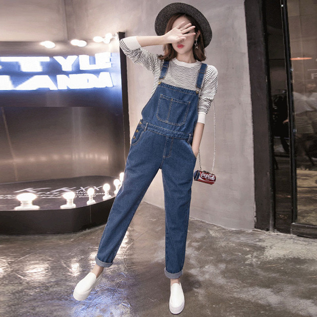 a5437b69fdb5 Maternity Jumpsuits Jeans For Pregnant Women Denim Suspenders Overalls  Pregnancy Braced Uniforms Maternity Prop Belly Pants 2018