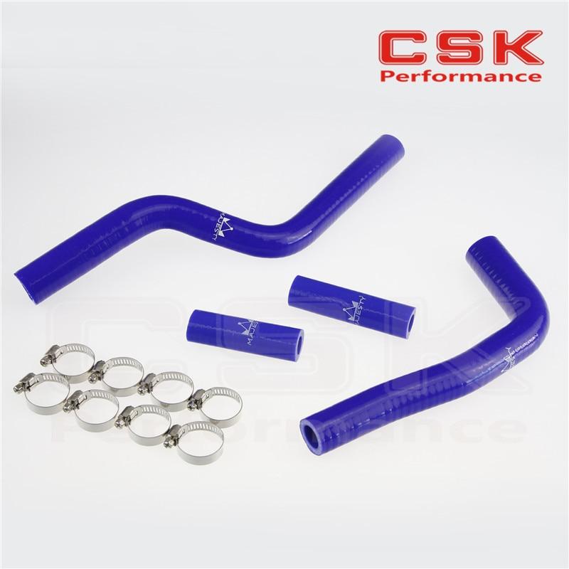 Silicone Radiator Coolant Hose +CLAMPS For Yamaha YZ125 YZ-125 03 04 05 06 07 08 BLUE