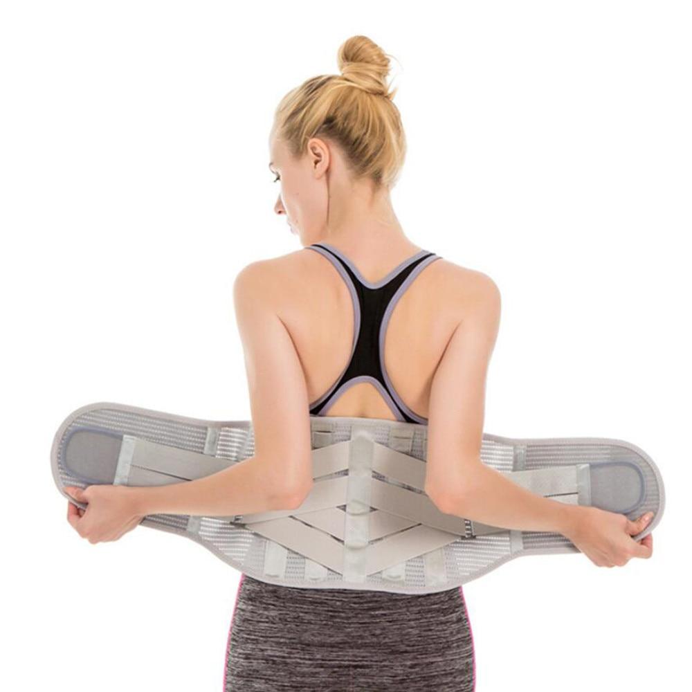 Elastic Shaper Slim Belt Lumbar Brace Support Belt Waist Trainer Trimmer Corset Girdle Belt Men And Women Lower Back Pain Relief in Braces Supports from Beauty Health