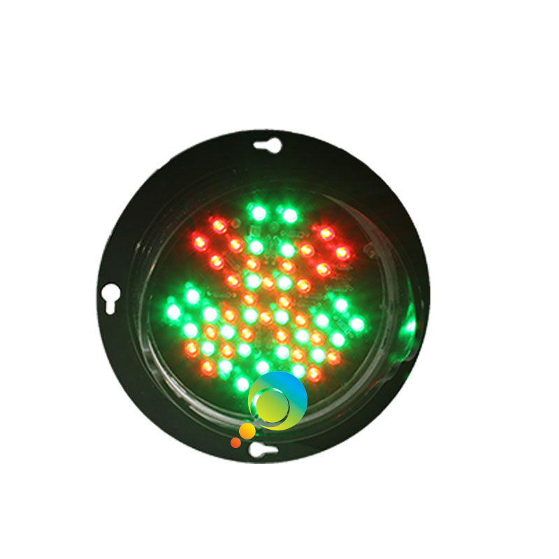 DC12V New Design Customized Pattern 100mm 4 Inch LED Lamp Mini Red Cross Green Arrow Traffic Light Module