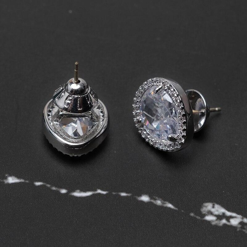 Cubic Zirconia Teardrop-shaped Stud Earrings
