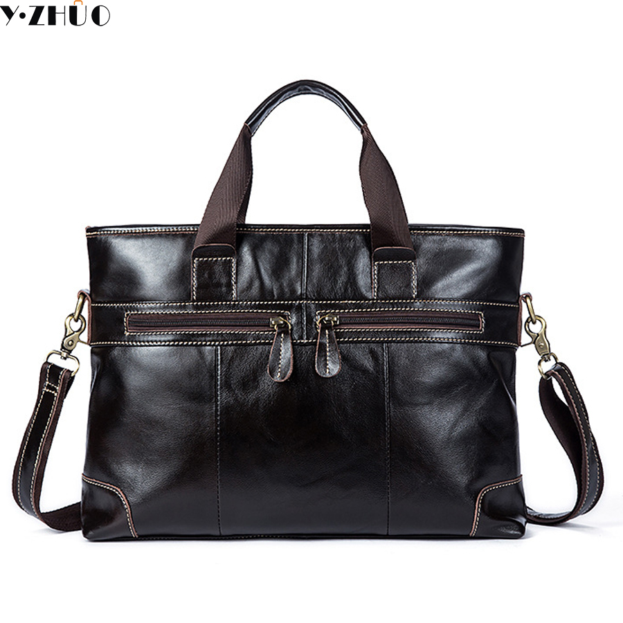 business briefcase really cowhide handbags tote genuine leather crossbody bags for men 14 Sacoche Homme shoulder messenger bag genuine leather men messenger bag really cowhide crossbody bags for men shoulder bag men top handle work bag briefcase