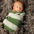 Fotografia bebê Recém-nascido Adereços Fotografia Wraps De Crochê Artesanal Malha Saco de Dormir Do Bebê Da Foto Adereços Acessórios