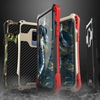Amira Metal Anti knock case for Samsung Galsxy S9 S9 Plus Carbon Fiber Silicone Shockproof cover shell for galaxy S8 S8Plus case