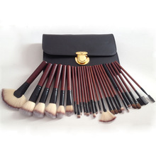 2018 New 26PCS Make Up Brushes Wood Handle Professional eyebrow Makeup Brush Set Soft Synthetic Cosmetics Kit With PU Bag