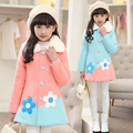 Girls Christmas Jackets Long Sleeve Cotton Trench Coats For Girls Clothing Hooded Outerwear Autumn Kids Woolen Coat 120-160