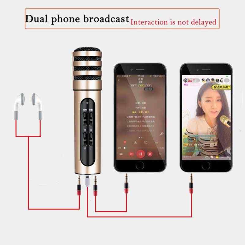 Металлический красочный проводной караоке металлический корпус беспроводной микрофон приемник MIC Professional Проводные микрофоны для караоке записи