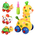 Kids Animal Puzzle Educational Disassembly Cartoon Toy For Children Random