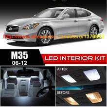 Free Shipping 14Pcs/Lot car-styling Xenon White Package Kit LED Interior Lights For 06-12 Infiniti M Series