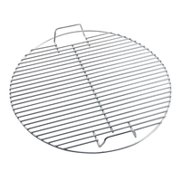 Camping Portable Kitchen Outdoor Round Non toxic Barbecue Mesh Non Stick Tool Heat Resistance Cooking Stainless Steel Home