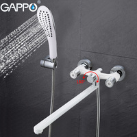 GAPPO 1set TOP Quality Wall Mount Bathtub Sink Faucet Mixer Torneira In Cold Hot Water Bathroom