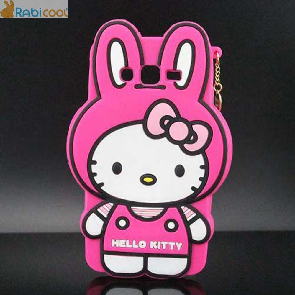 3D Cartoon Characters Hello Kitty Totoro Marie Cat Silicone Case ...
