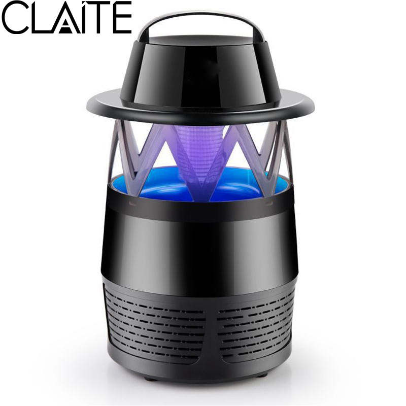 CLAITE LED Mosquito Killer Lamp Photocatalyst Mute Fan Night Light Insect Repellent Travel Camp None Radiative Silence for Home