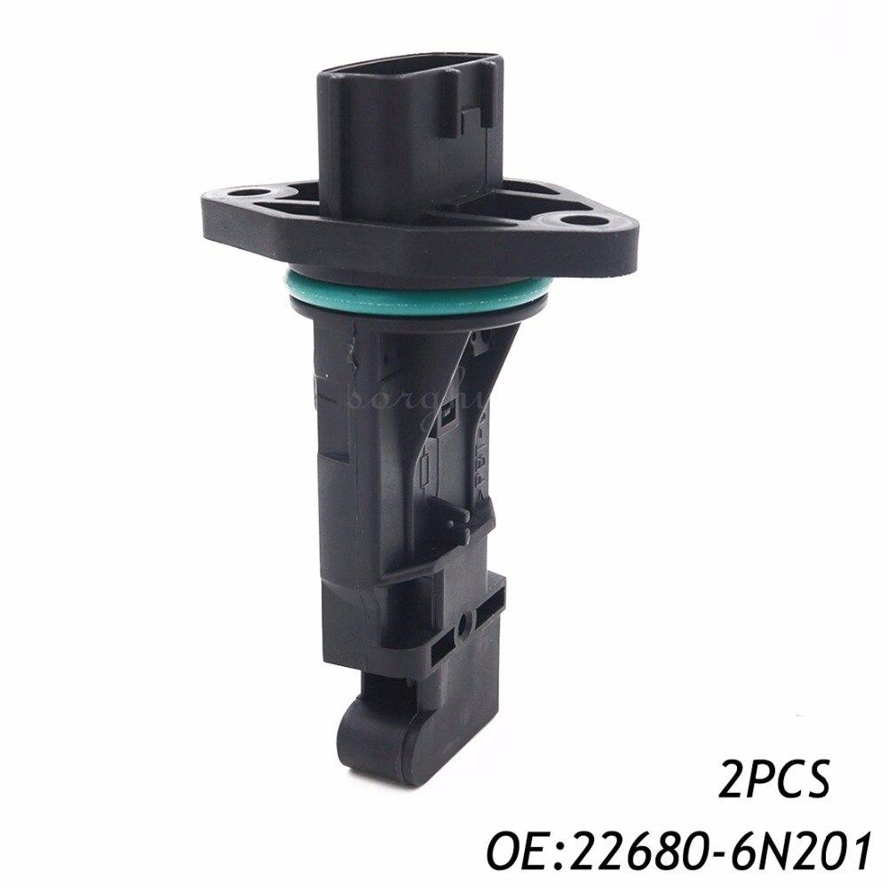 2 UNIDS Mass Air Flow Meter de Sensor Para Nissan Subaru Infiniti G20 i30 22680-6N201 22680-6N200 22680-AD200 AD201-22680 22680-AA290