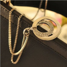 Matte Gold Sun Pendant Necklace For Women Vintage Bohemian Big Round Coin Charm Necklaces Fashion Jewelry Wholesale(China)