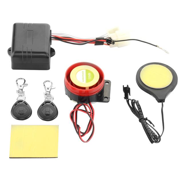 Motocicleta Bicicleta Cartão IC Indução Alarme Sensores de Sistema Imobilizador Motocicleta Anti-roubo de Bloqueio Invisível