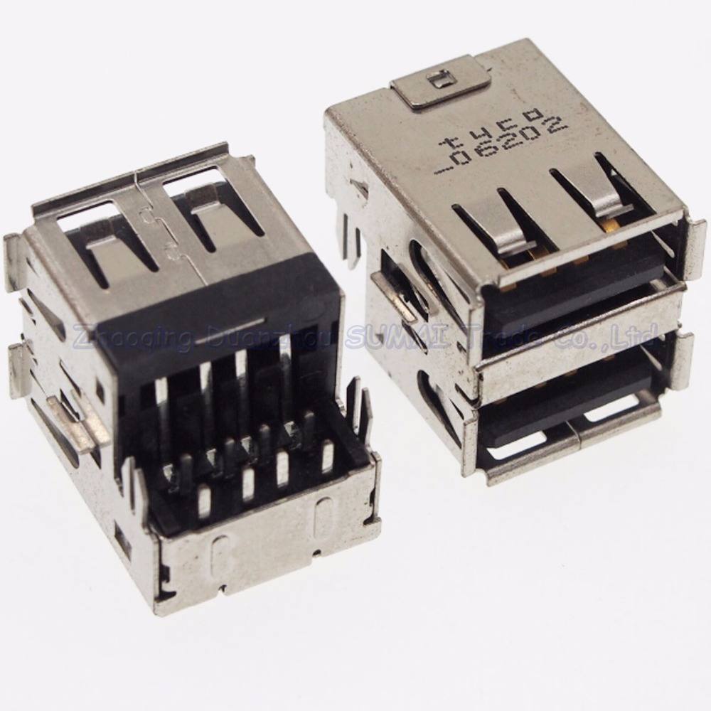 2pcs Notebook motherboard USB interface Double deck sink board 2.0 USB port