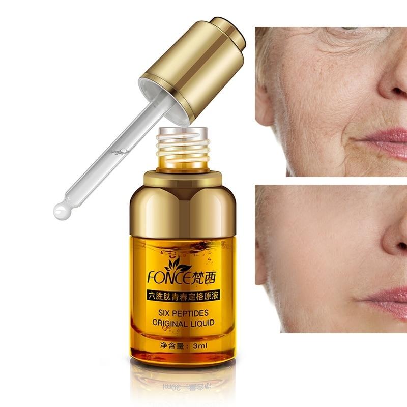 Fonce Argireline Anti Wrinkle Serum Hyaluronic acid Liquid Six Peptides Anti Aging Collagen Lifting firming Ageless Moisturizer