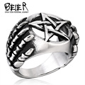 Beier new store 316L Stainless Steel ring top quality punk dragon claw pentacle ring fashion jewelry BR8-271