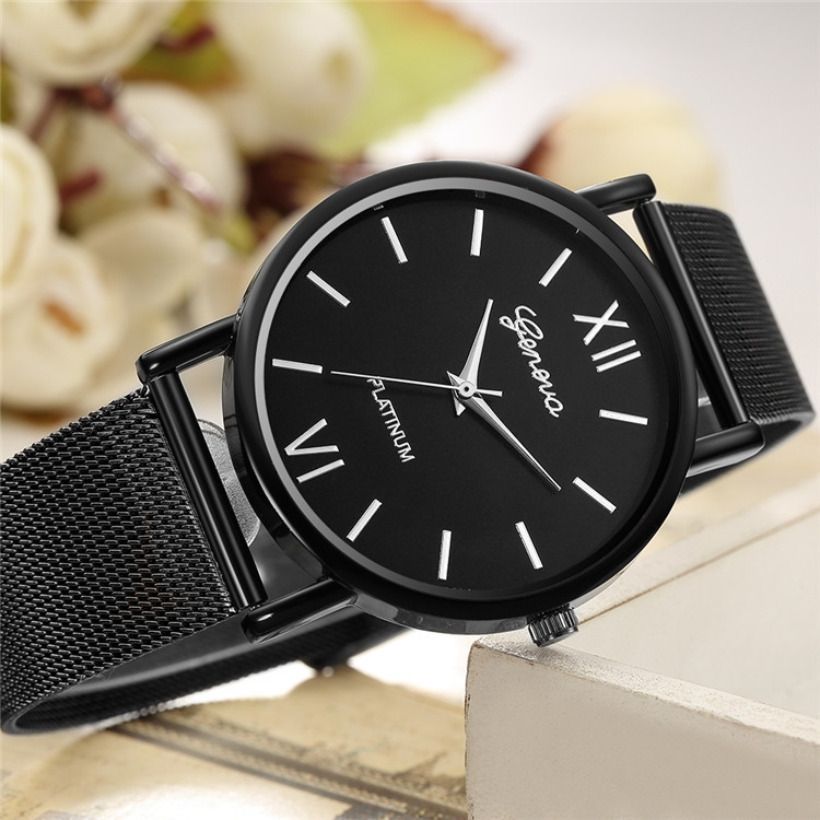 Men Women Watches Business Simple Leather Stainless Steel Strap Wristwatch Fashion Top Band Luxury Watches Dress Suit Clock New