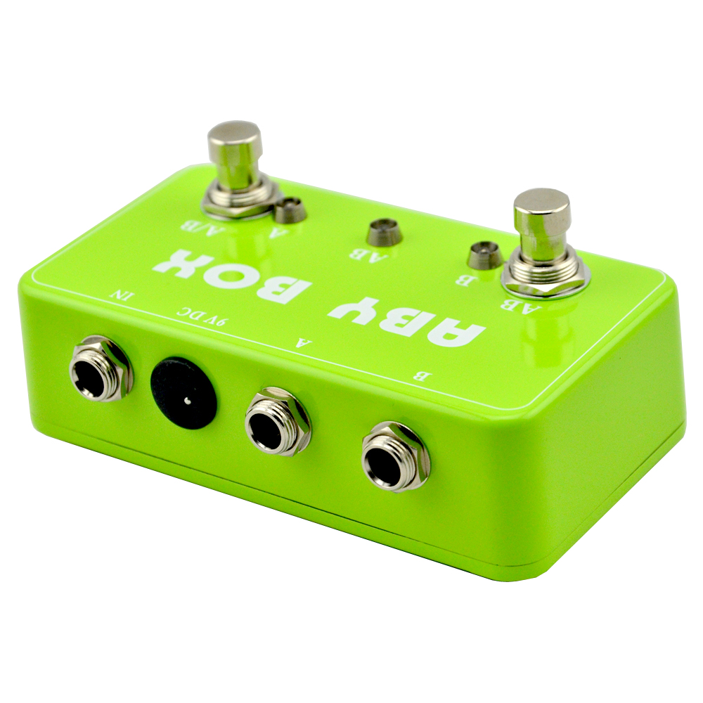hand wired aby channel selector combiner switch guitar pedal green stompbox true bypassfree. Black Bedroom Furniture Sets. Home Design Ideas