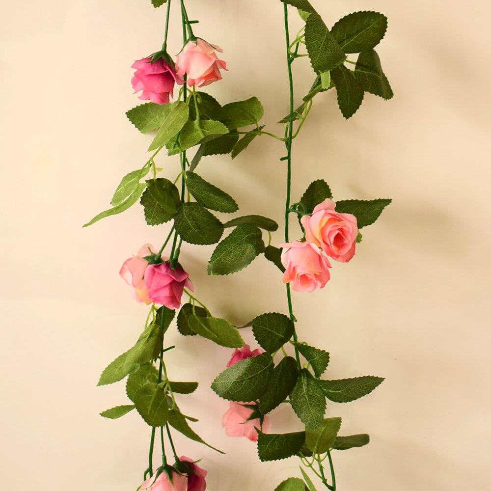 Sutra buatan bunga mawar anggur untuk lengkungan jembatan Dinding pohon  dekorasi rumah ayunan taman partai pernikahan biru merah muda merah di  Tanaman ... 81132faa50