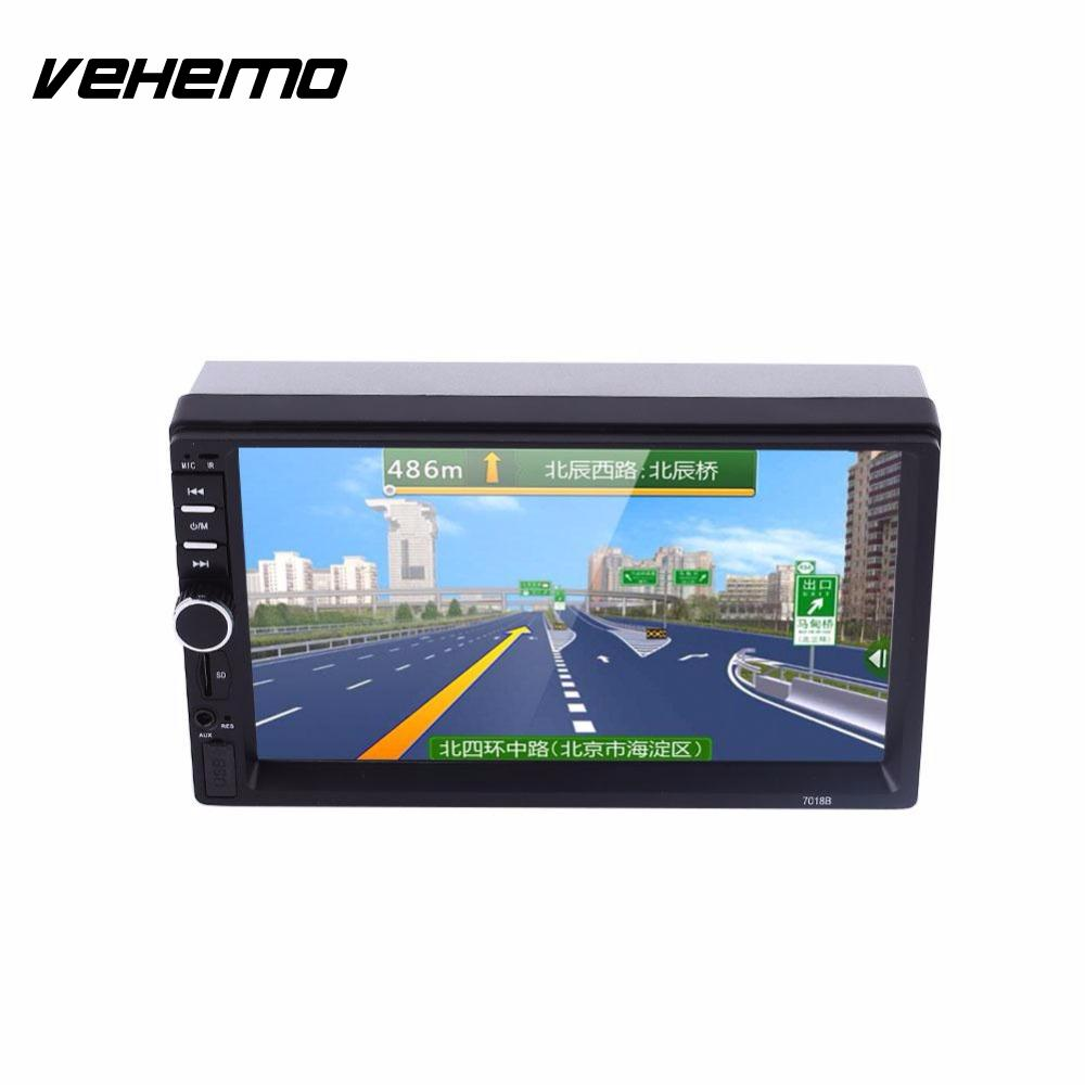 Vehemo Hot sale 7 Inch 2 DIN Car Audio Stereo Player 7018B Touch Screen Car Video MP5 TF SD MMC USB FM Radio Hands-free Call 2017 new designer korea men s jeans slim fit classic denim jeans pants straight trousers leg blue big size 30 34