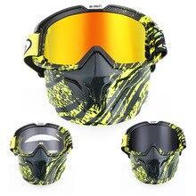 Модульная маска для мотокросса Съемные очки рот фильтр для открытого лица половина лица шлем винтажные шлемы для квадроциклов MTB велосипедные солнцезащитные очки