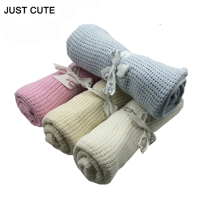 75*100cm Hollow Cotton Baby Blanket Newborn High Quality Wrap Swaddle Baby Bedding Soft Newborn Photography Props Towel Blanket