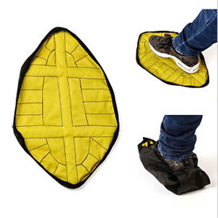 1Pair Handsfree Automatic Step Sock Shoe Cover Reusable One Step Hand Free Shoe Dust Covers Durable Portable Shoe Covers