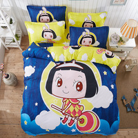 You Will Love Cartoon Style Large Flower Hello Kity Bedding Set Duvet Cover Queen Size 1