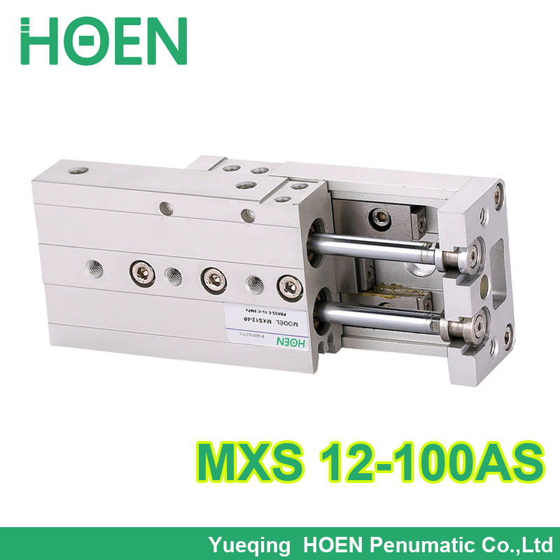 MXS12-100 SMC Type MXS series Cylinder MXS12-100AS Air Slide Table Double Acting 12mm bore 100mm stroke Accept custom MXS12*100 mxh10 25 mxh series double acting air slide table smc type mxh10 25 with high quality