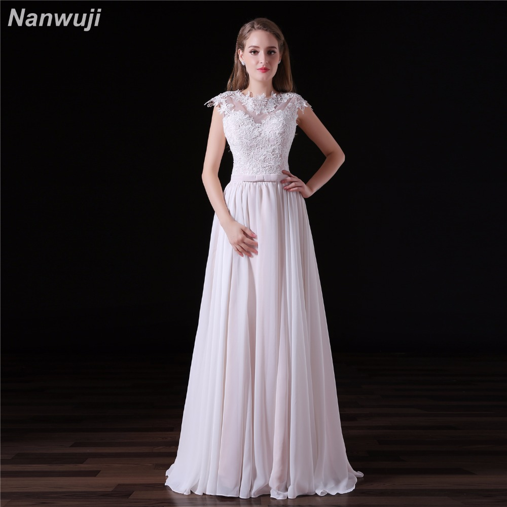 Wedding Dresses For Pregnant Brides: Beach Lace White Wedding Dresses Chiffon Pregnant Brides