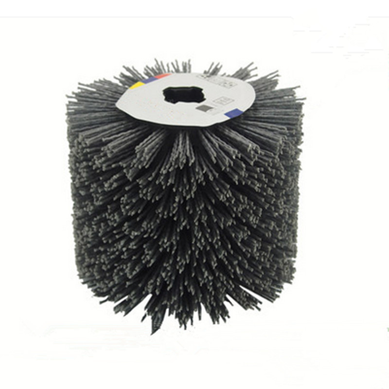Inner Diameter Cross Shape Abrasive Wire Grinding Flower Head Polishing Brush Grinding Tool Accessories Free Shipping