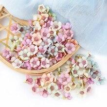 Mini flores artificiales de seda para decoración del hogar, tocado guirnalda DIY, 50 Uds., 2cm