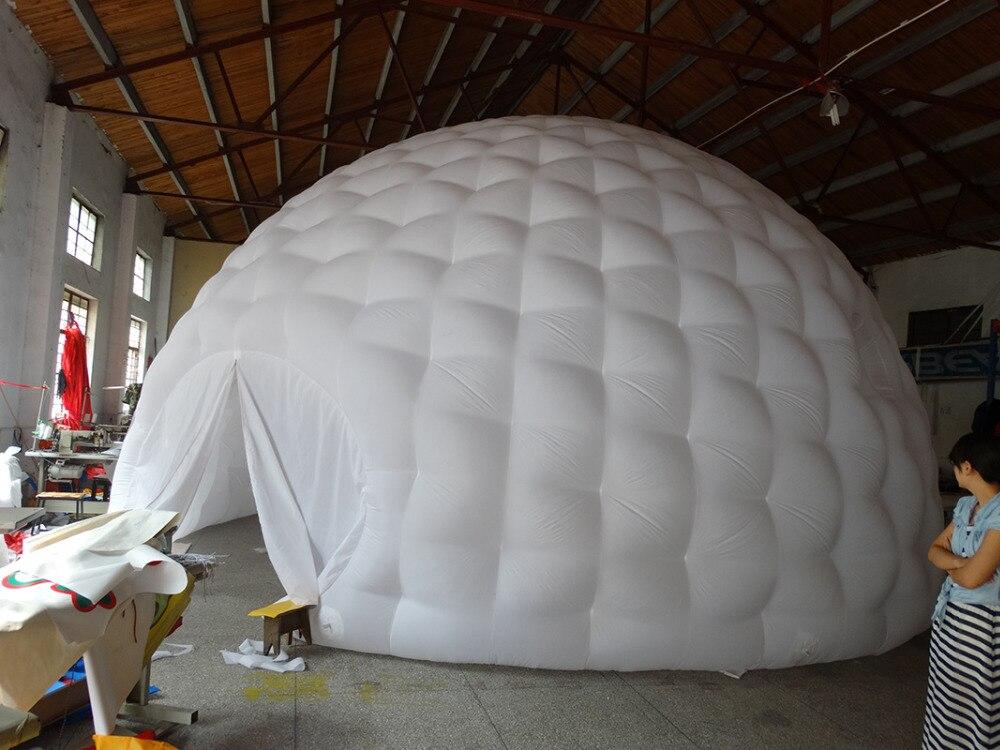 Tienda de campaña inflable interior blanco exterior negro con forma - 3