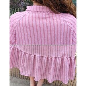 Image 5 - パゴダスリーブ妊婦の服エレガントなストライプ妊娠ドレスマタニティ Vestidos 妊婦服
