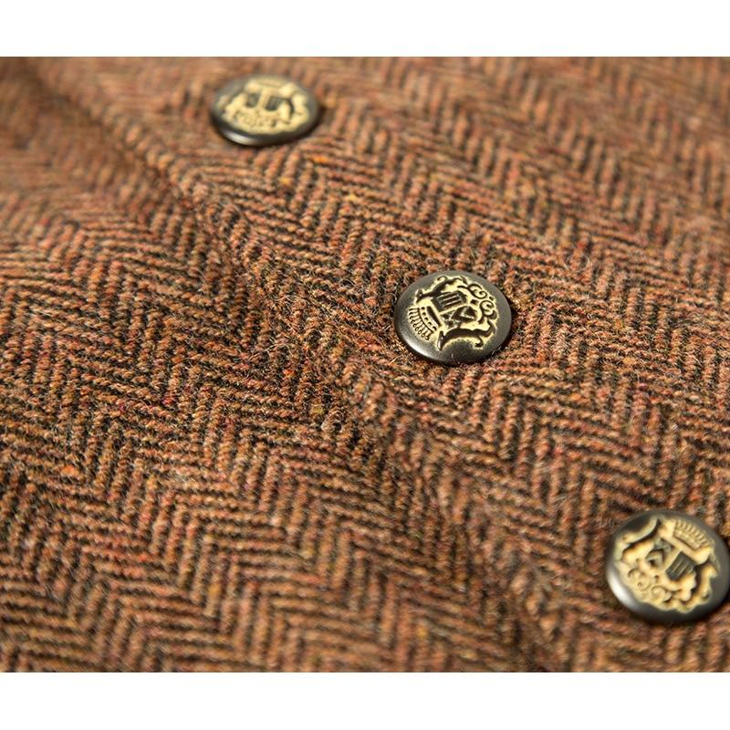 Marke Männer Clothing2016Autumn Winter 31.2% Wolle männer casual slim fit anzug weste weste männer woolen formale hochzeit gilet V ausschnitt - 4