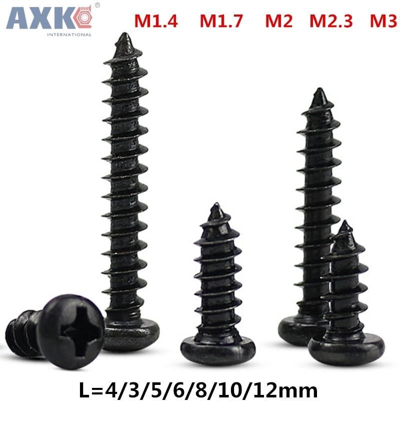AXK 100 шт. M1.4 M1.7 M2 M2.3 M3 PA с головкой Филлипса микровинтов полукруглой головкой саморезы электронные небольшой шурупы
