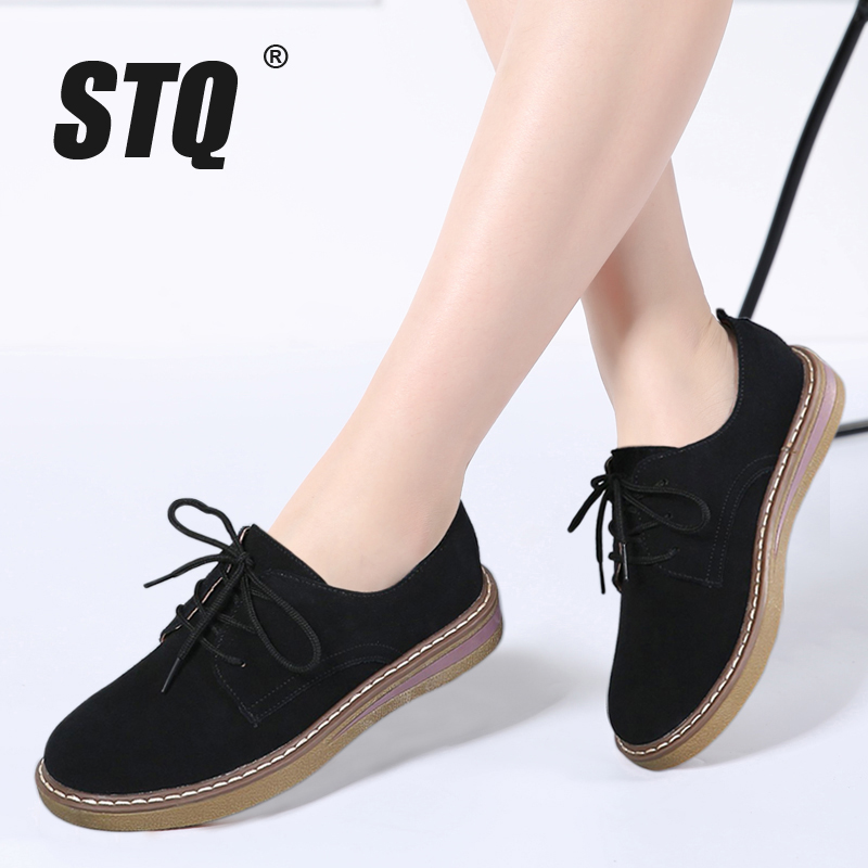 Fashion designer women sneakers oxford shoes flats shoes women leather suede lace up boat shoes round toe flats