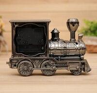 Creative Funny Locomotive Alarm Clocks New Designed Vintage Alarm Clocks Happy Gifts Table Students Alarm Clocks