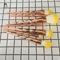 2017 New Soft 7 Шт. Единорог Розовое Золото Желтые Волосы Макияж Кисти Фонд Бровей Подводка Для Глаз Набор Кистей Для Макияжа
