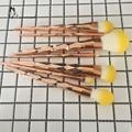 2017 New Soft 7Pcs Unicorn Rose Gold Yellow Hair Makeup Brushes Foundation Eyebrow Eyeliner Makeup Brush Set