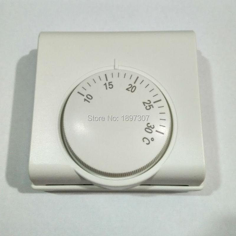 Controlador de temperatura mecánico de 220VAC Termostato de calefacción de habitación para caldera de gas (10-30 grados)